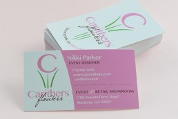 Carithers Flowers business cards