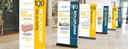 K-C R&E 100 Year Anniversary banners