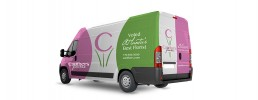 Carithers Flowers van wrap