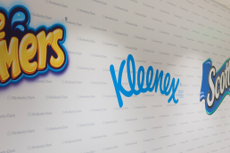 Kimberly-Clark environmental graphics