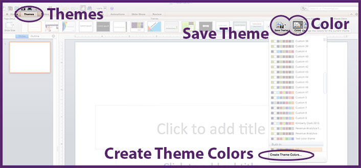 Theme colors PPT