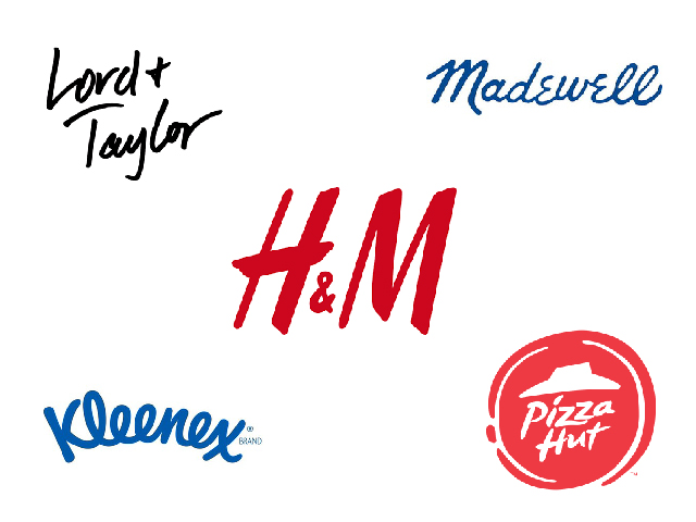 hand-drawn corporate logos
