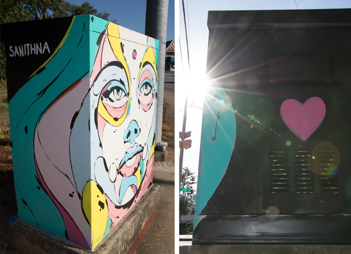 traffic signal box art