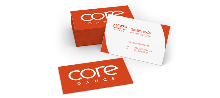 Core Dance business cards