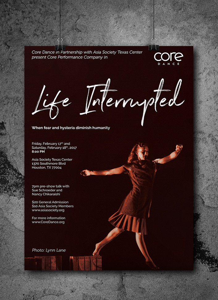 Core Dance Life Interrupted Poster