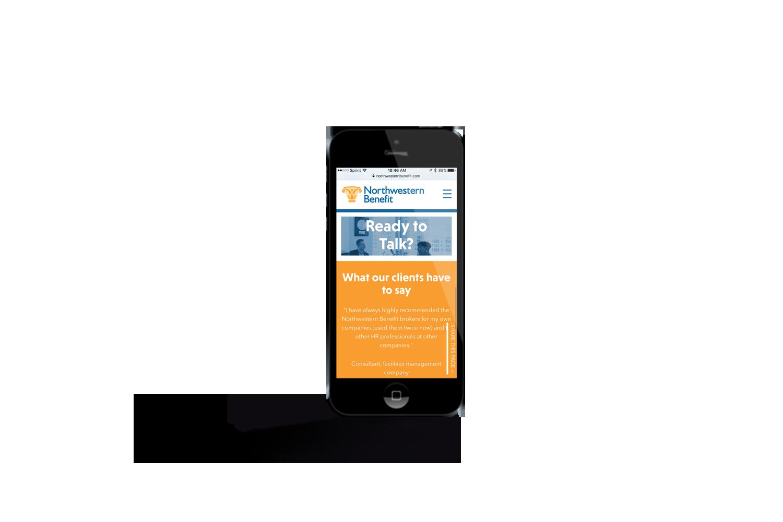 Northwestern Benefit mobile website