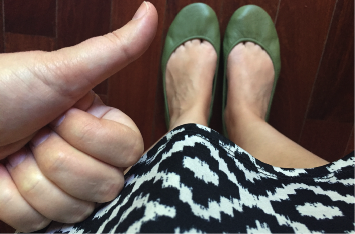 Tieks thumbs up