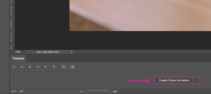 Photoshop create frame animation