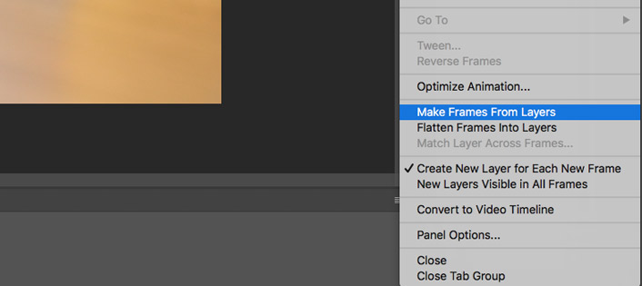 Photoshop make frames from layers
