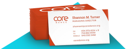 Corporate Branding - Core Dance Business Cards
